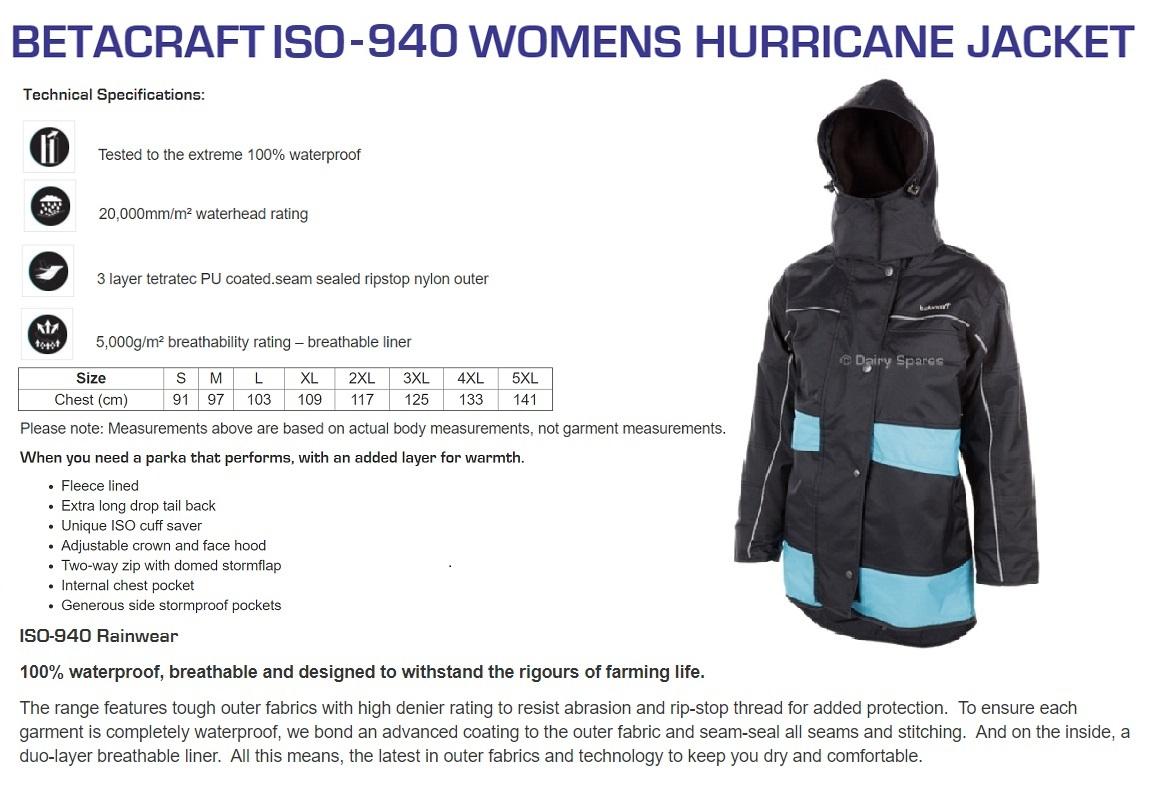 Betacraft Womens Hurricane Jacket
